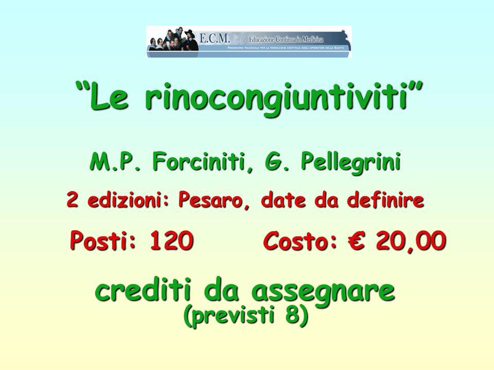 Le rinocongiuntiviti . M. P. Forciniti, G