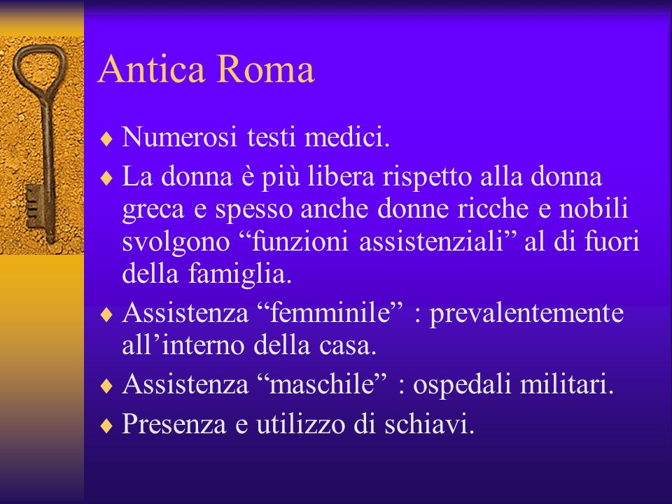 Antica Roma Numerosi testi medici.