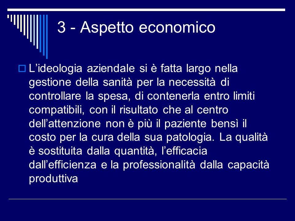 3 - Aspetto economico
