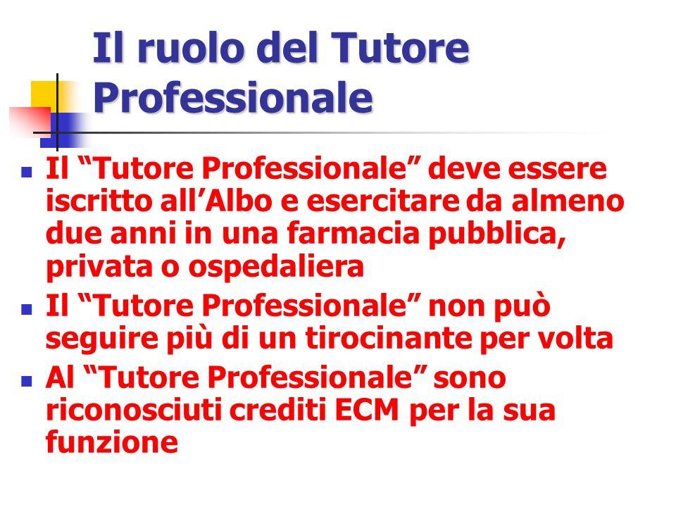 Il ruolo del Tutore Professionale