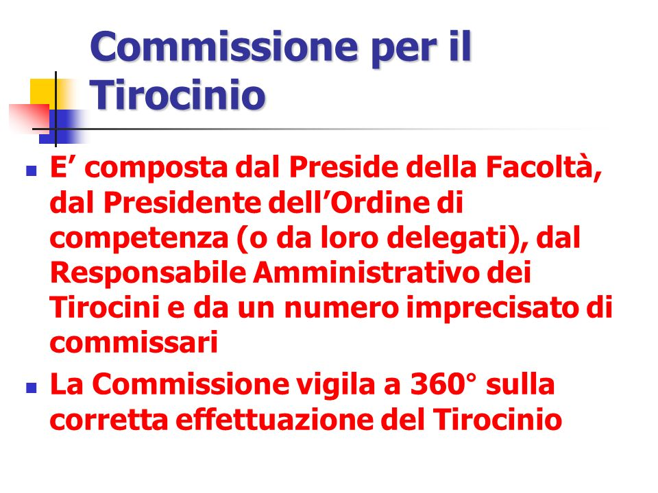 Commissione per il Tirocinio