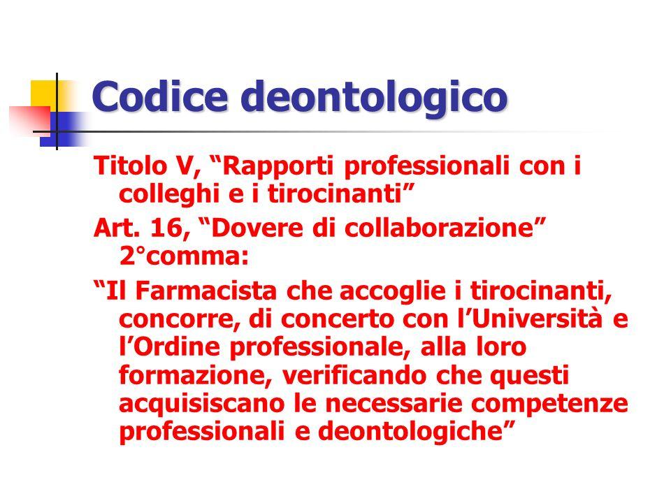 Codice deontologico Titolo V, Rapporti professionali con i colleghi e i tirocinanti Art. 16, Dovere di collaborazione 2°comma: