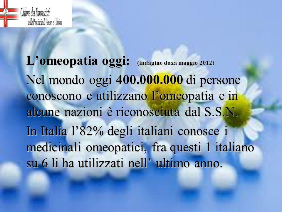 L'omeopatia oggi: (indagine doxa maggio 2012)
