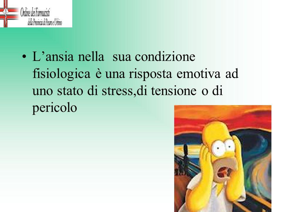 L'ansia nella sua condizione fisiologica è una risposta emotiva ad uno stato di stress,di tensione o di pericolo