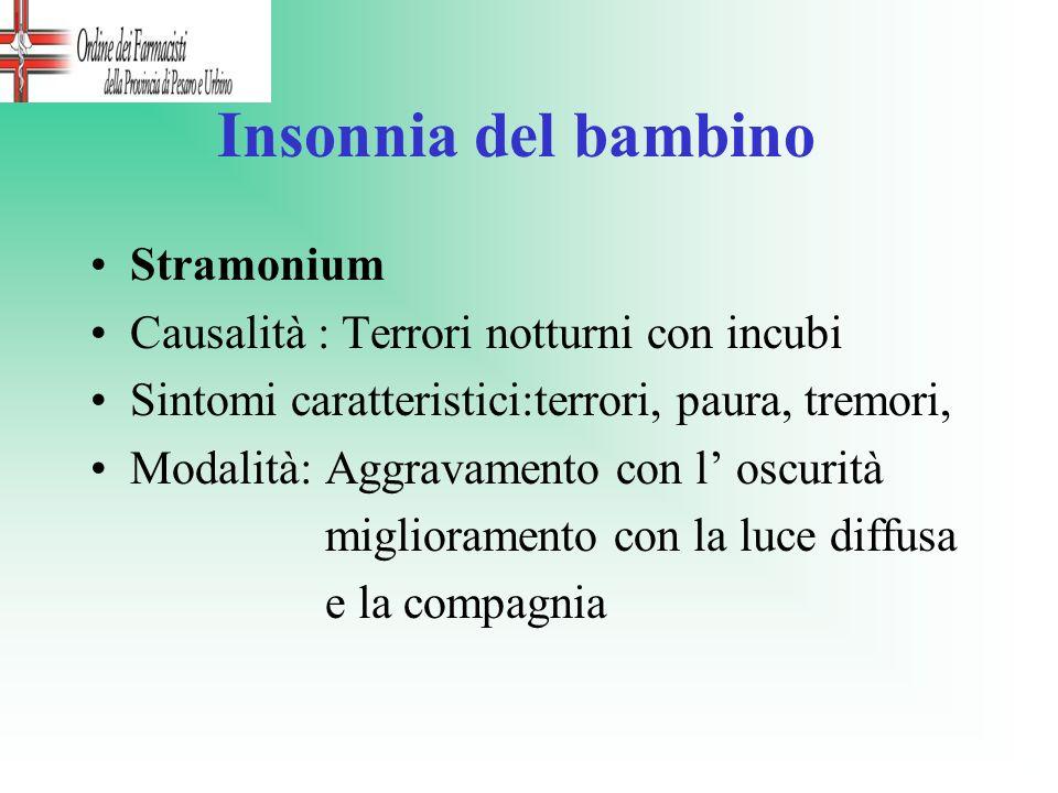 Insonnia del bambino Stramonium