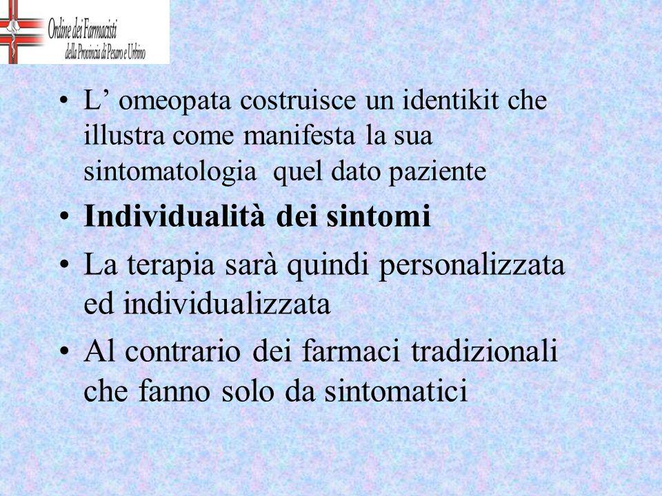 Individualità dei sintomi