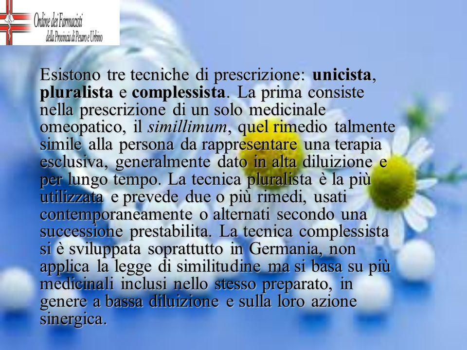 Esistono tre tecniche di prescrizione: unicista, pluralista e complessista.