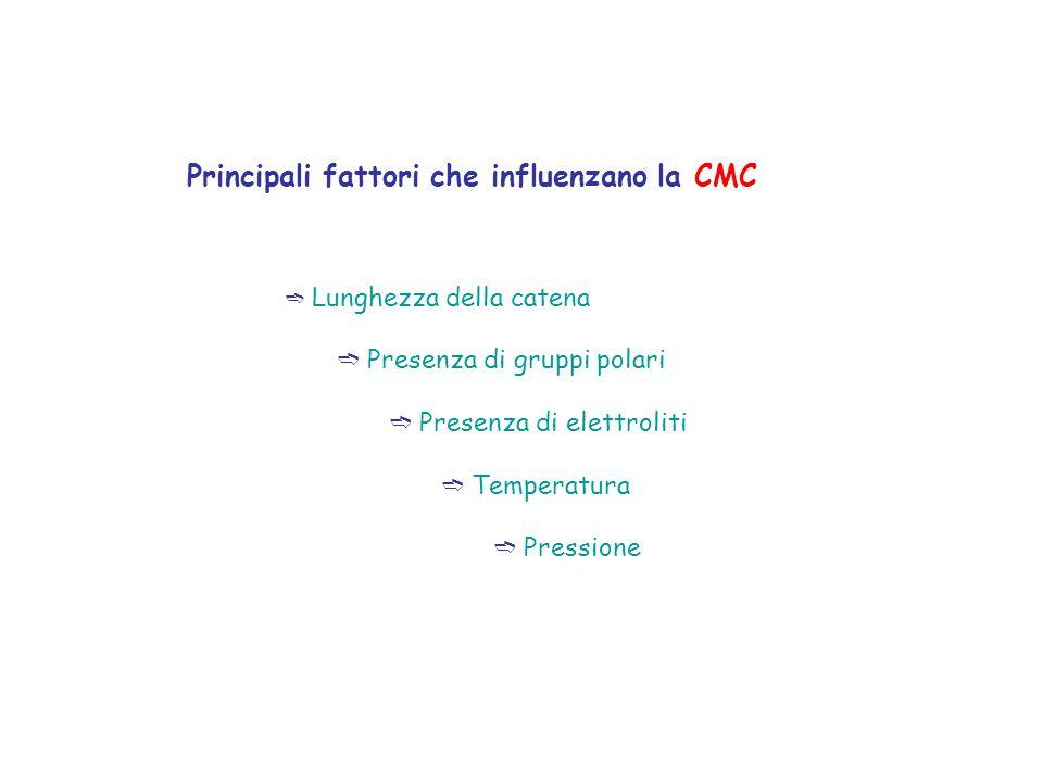 Principali fattori che influenzano la CMC