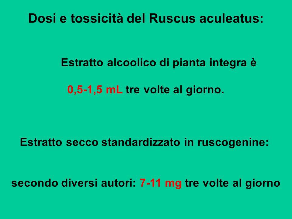 Dosi e tossicità del Ruscus aculeatus: