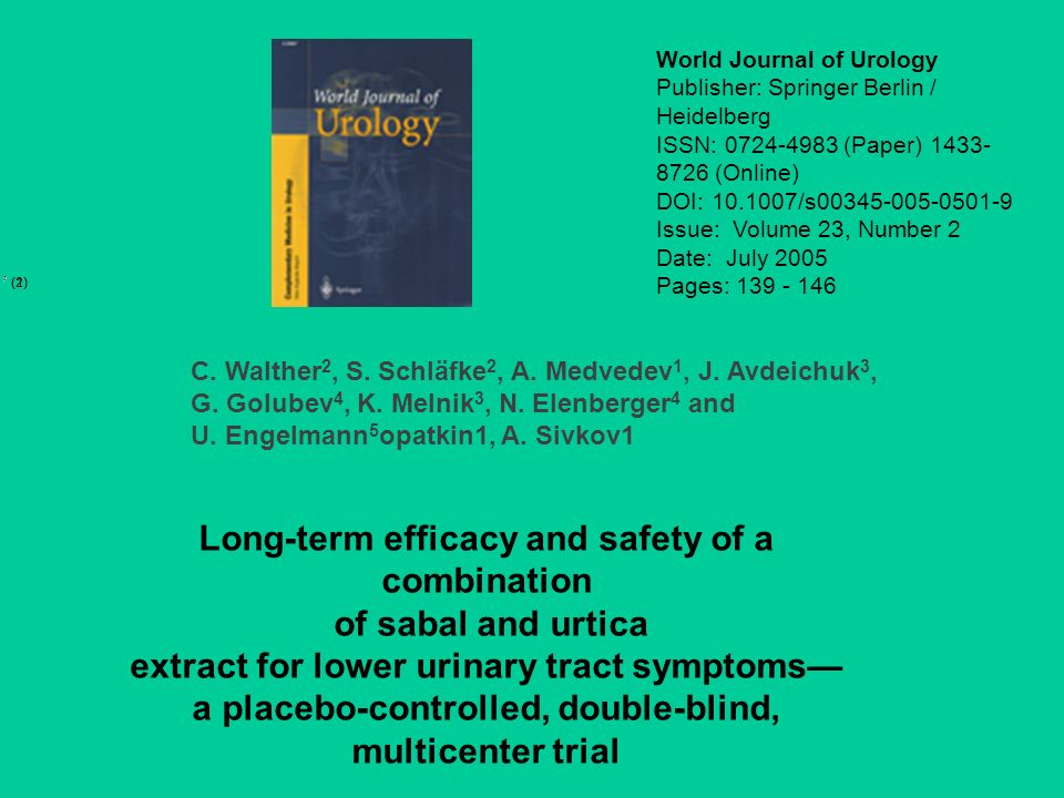Long-term efficacy and safety of a combination of sabal and urtica