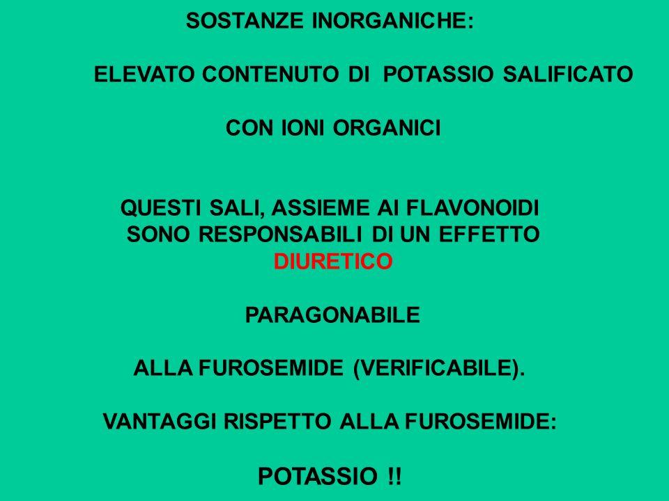 POTASSIO !! SOSTANZE INORGANICHE: