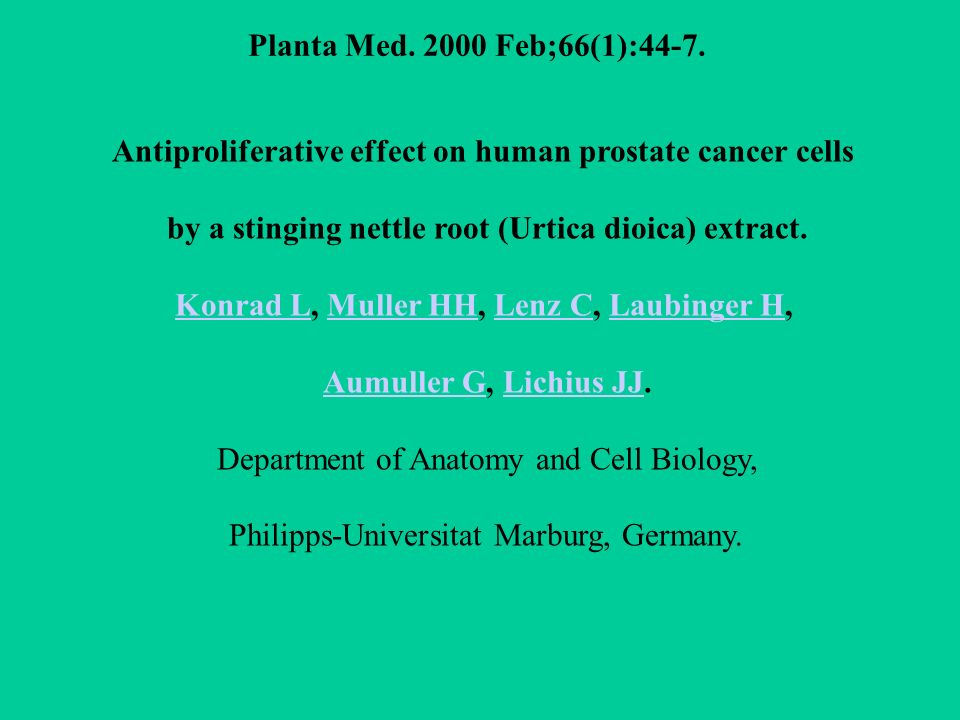 Antiproliferative effect on human prostate cancer cells