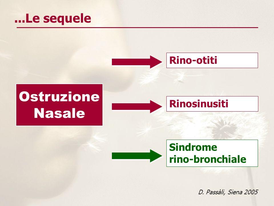 Ostruzione Nasale ...Le sequele Rino-otiti Rinosinusiti Sindrome
