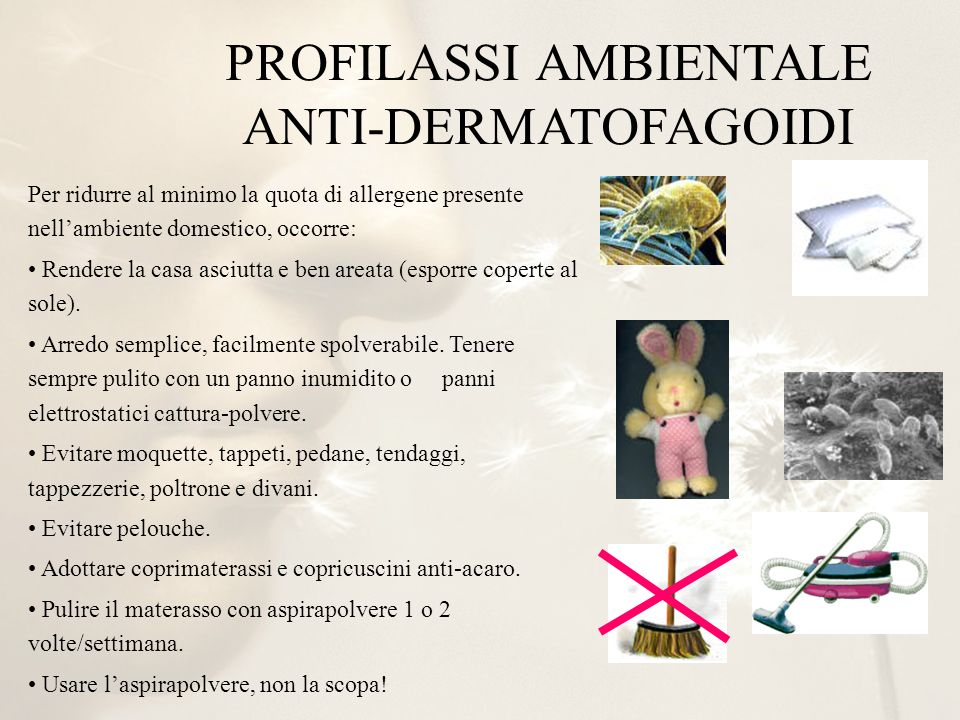 PROFILASSI AMBIENTALE ANTI-DERMATOFAGOIDI