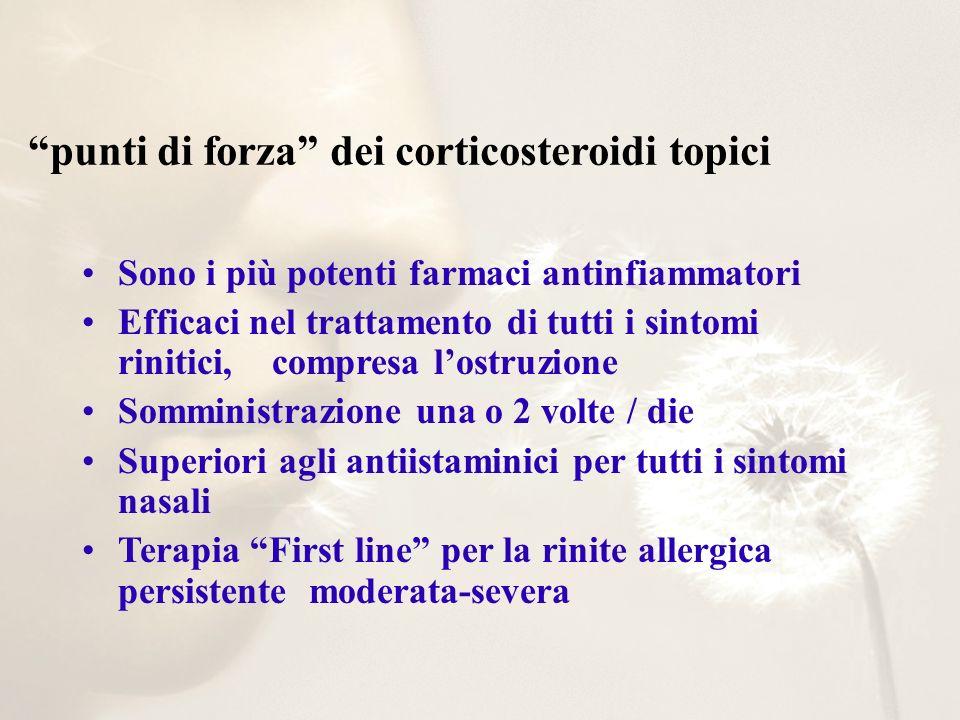 punti di forza dei corticosteroidi topici