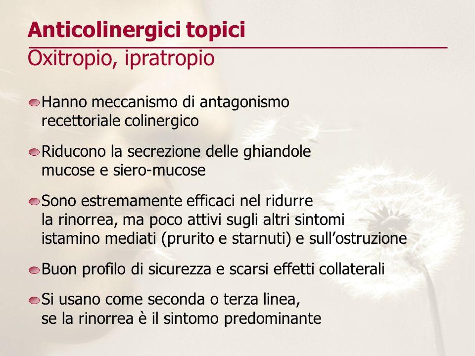 Anticolinergici topici Oxitropio, ipratropio