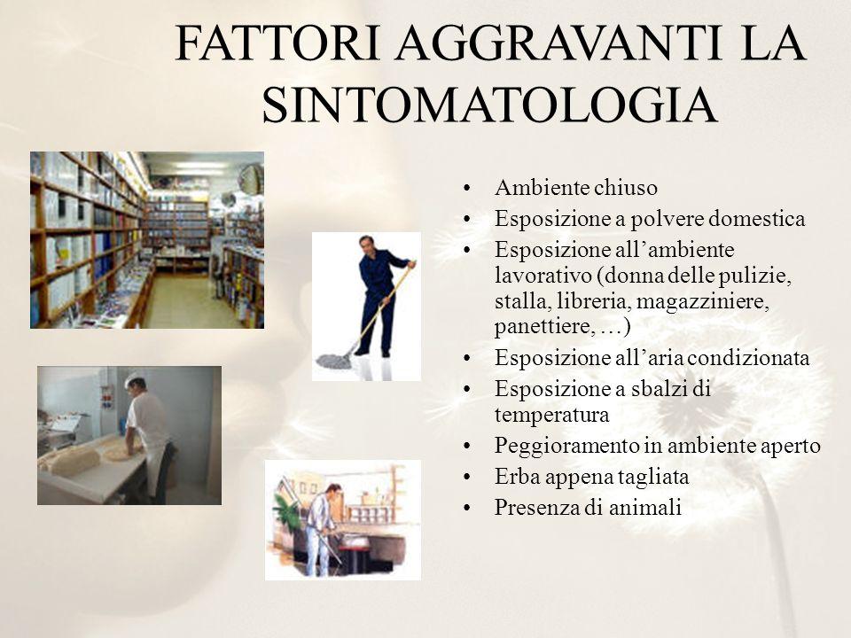 FATTORI AGGRAVANTI LA SINTOMATOLOGIA