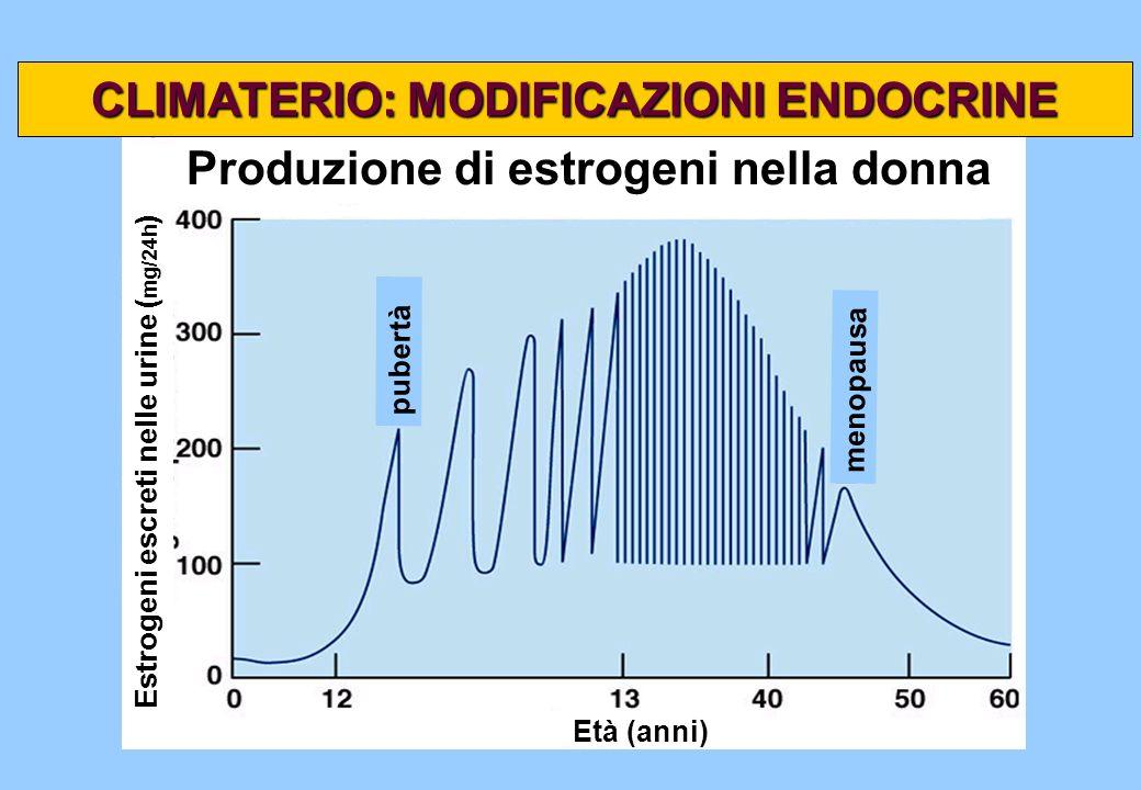 CLIMATERIO: MODIFICAZIONI ENDOCRINE