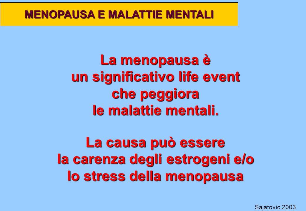 un significativo life event che peggiora le malattie mentali.