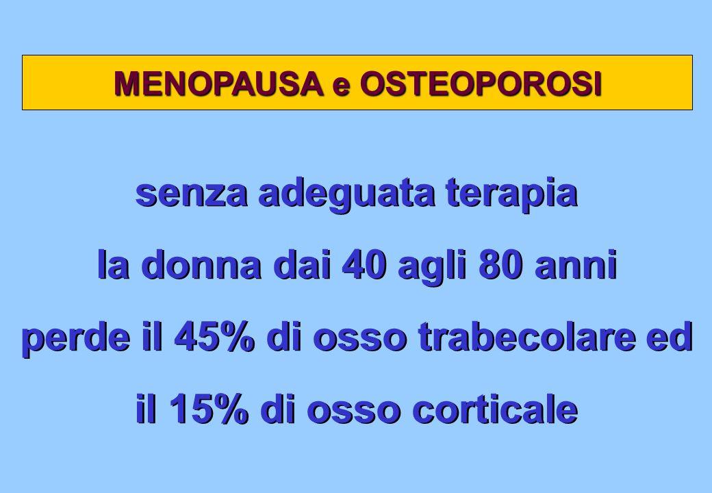 senza adeguata terapia la donna dai 40 agli 80 anni