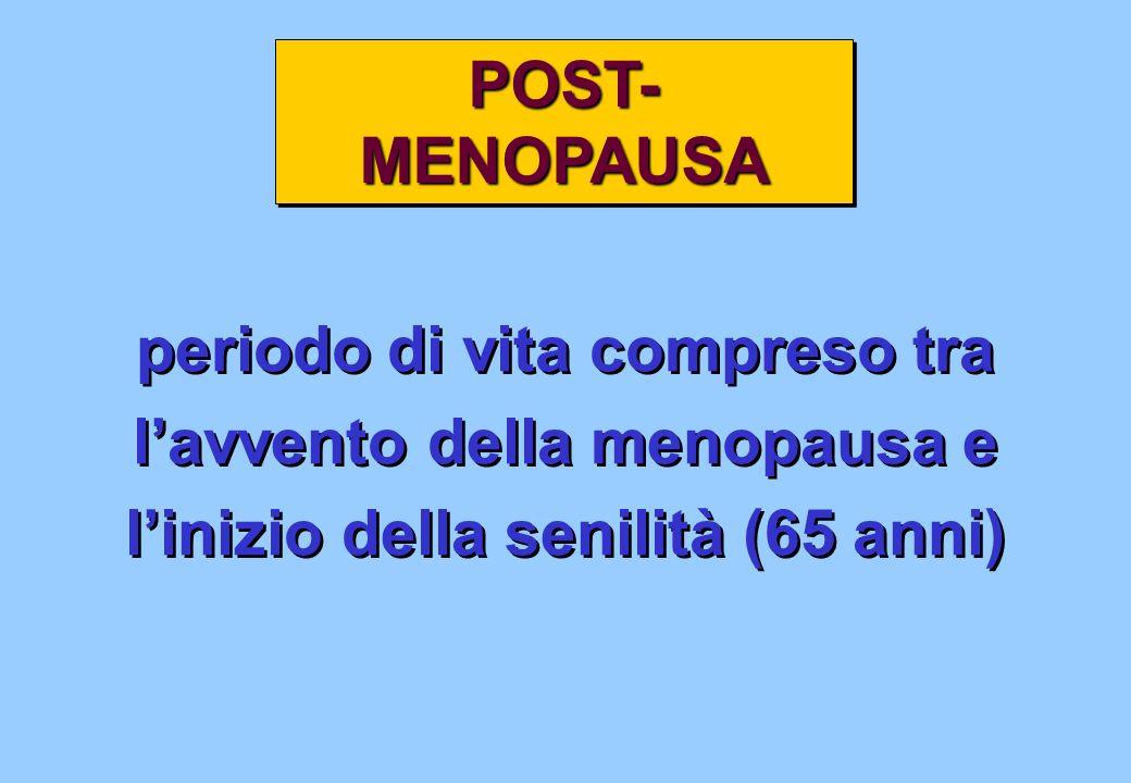 periodo di vita compreso tra l'avvento della menopausa e