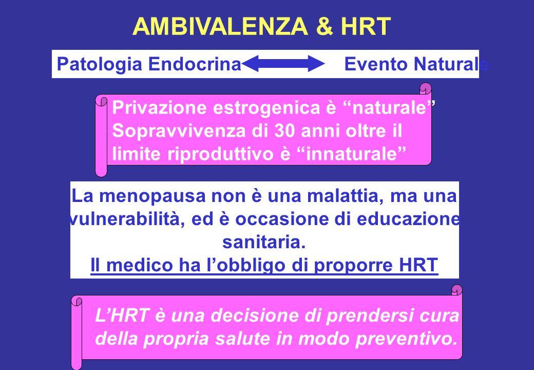 AMBIVALENZA & HRT Patologia Endocrina Evento Naturale