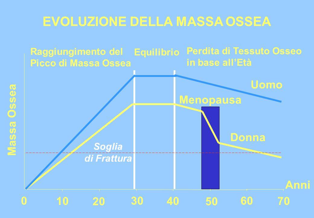 EVOLUZIONE DELLA MASSA OSSEA