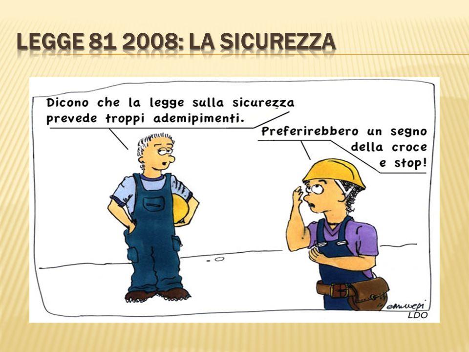 Legge 81 2008: LA SICUREZZA