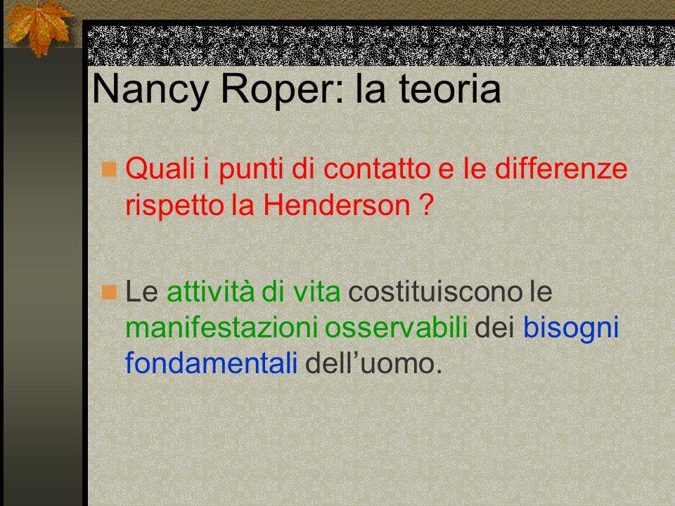 Nancy Roper: la teoria Quali i punti di contatto e le differenze rispetto la Henderson