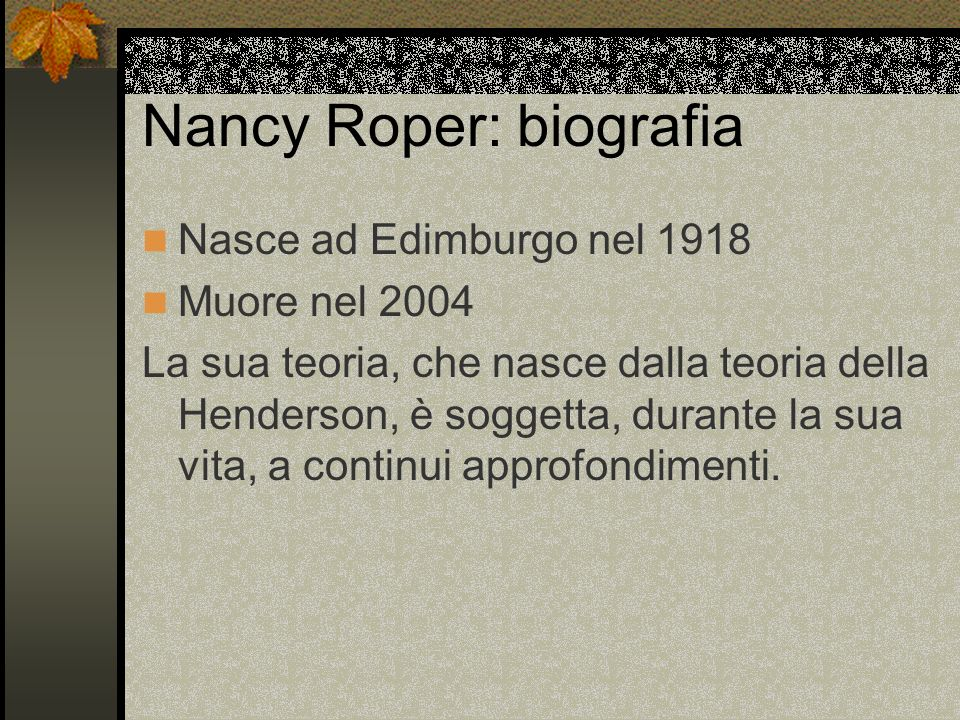 Nancy Roper: biografia