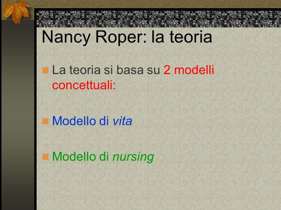 Nancy Roper: la teoria La teoria si basa su 2 modelli concettuali: