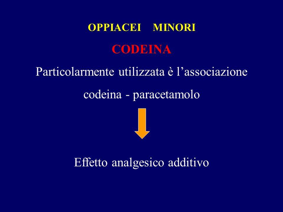 Particolarmente utilizzata è l'associazione codeina - paracetamolo