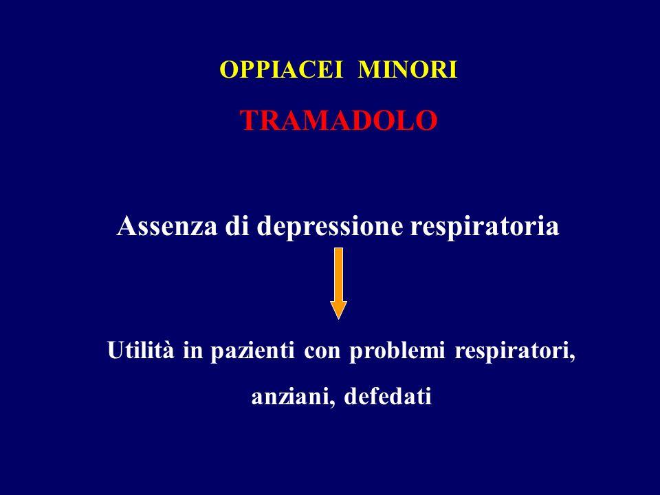 TRAMADOLO Assenza di depressione respiratoria