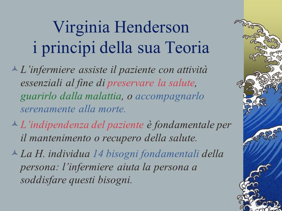 Virginia Henderson i principi della sua Teoria