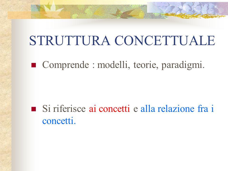 STRUTTURA CONCETTUALE