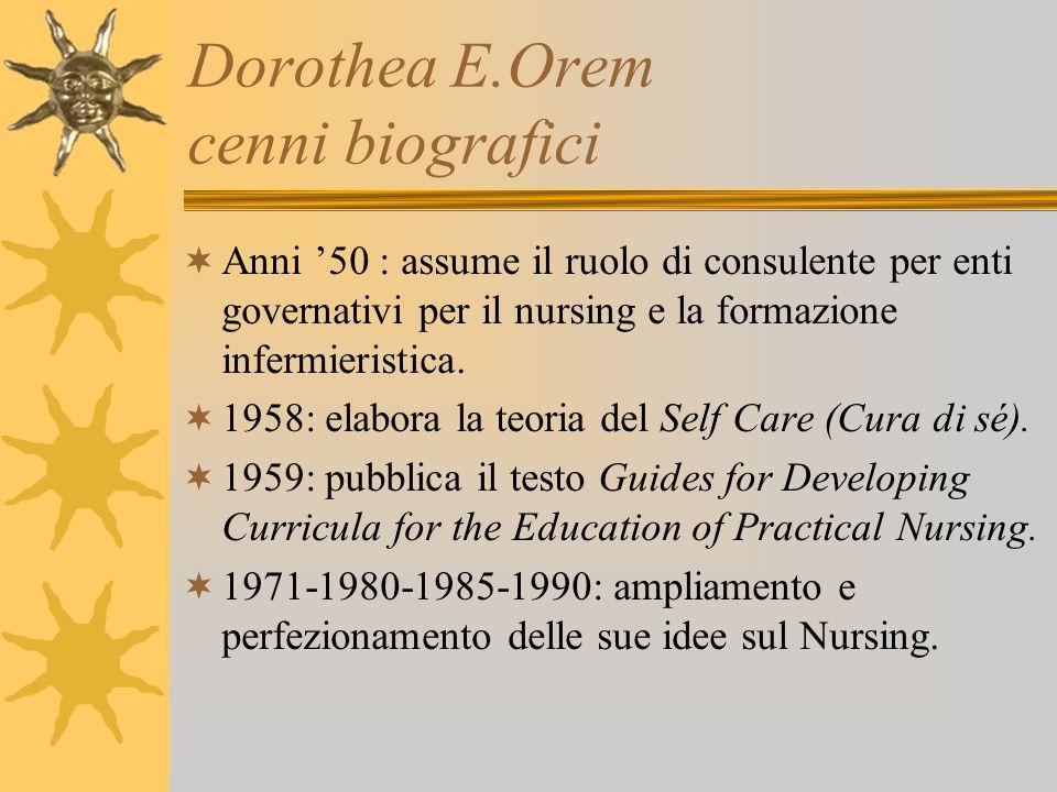 Dorothea E.Orem cenni biografici