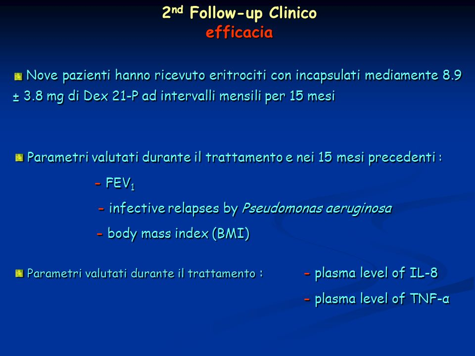 2nd Follow-up Clinico efficacia