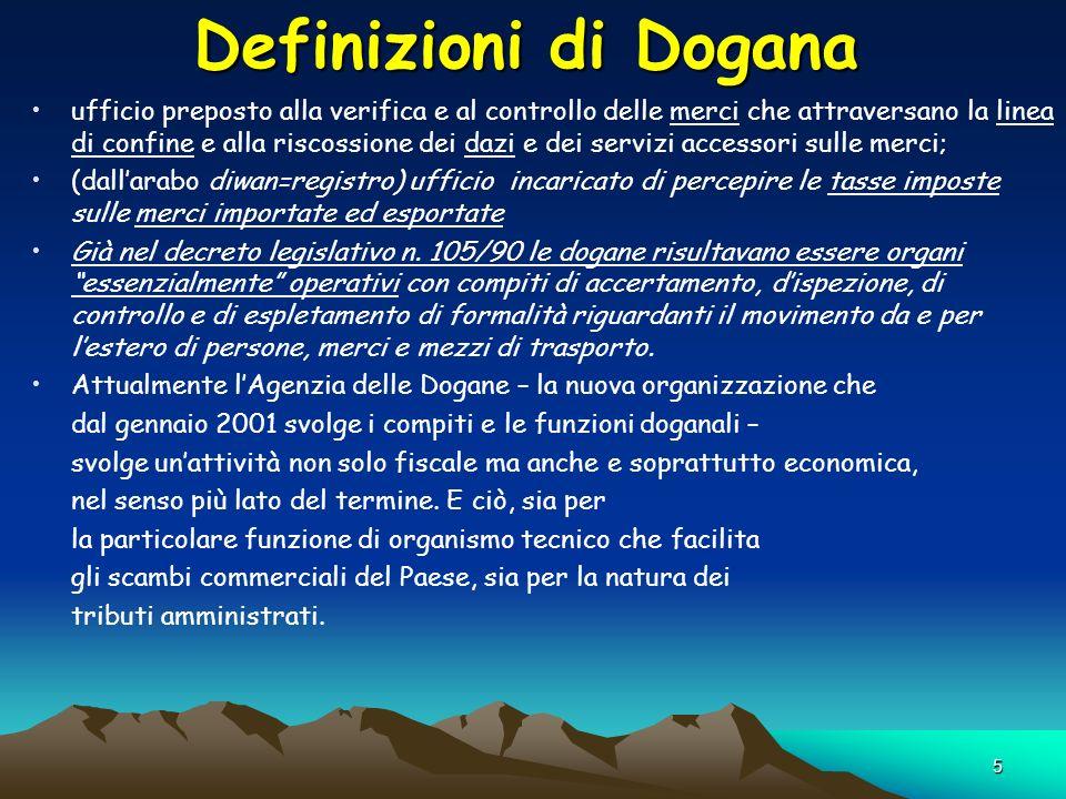 Definizioni di Dogana