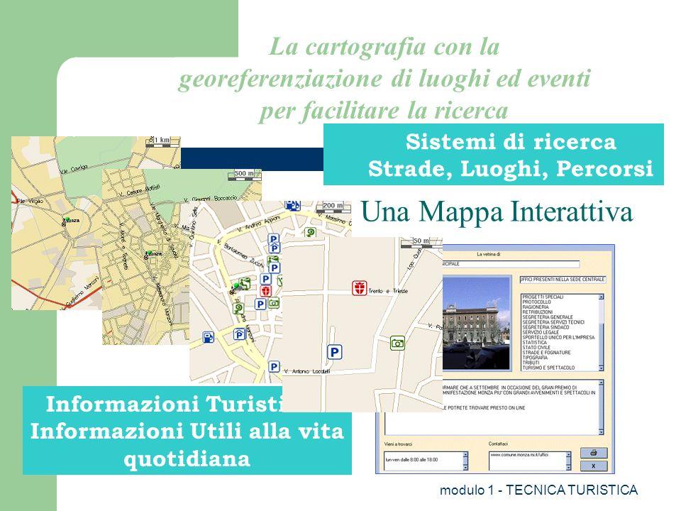 La cartografia con la georeferenziazione di luoghi ed eventi per facilitare la ricerca