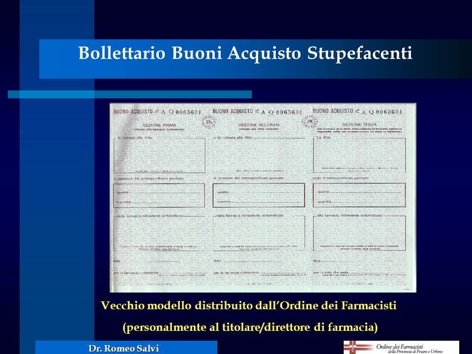 Bollettario Buoni Acquisto Stupefacenti