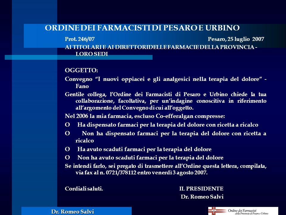 ORDINE DEI FARMACISTI DI PESARO E URBINO
