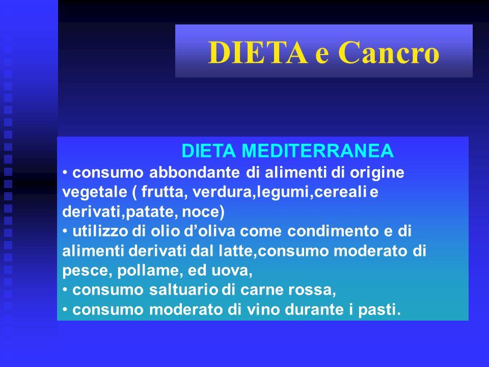 DIETA e Cancro DIETA MEDITERRANEA