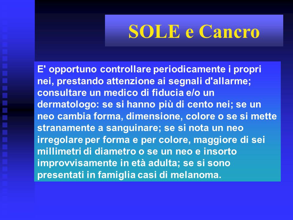 SOLE e Cancro