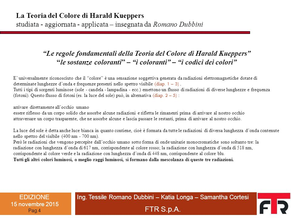 La Teoria del Colore di Harald Kueppers