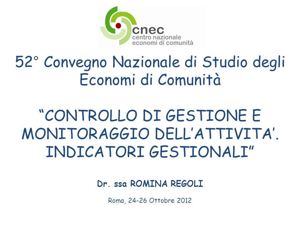 52° Convegno Nazionale di Studio degli Economi di Comunità