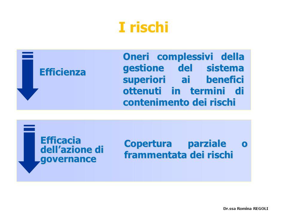 I rischi Efficienza. Efficacia dell'azione di governance.