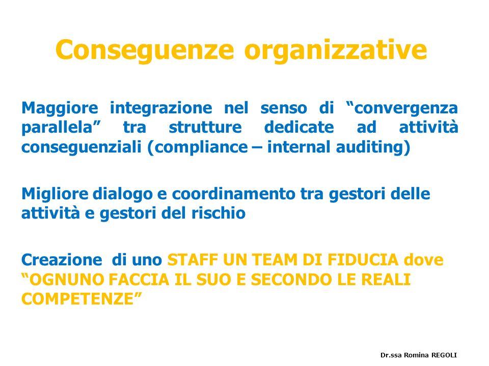Conseguenze organizzative