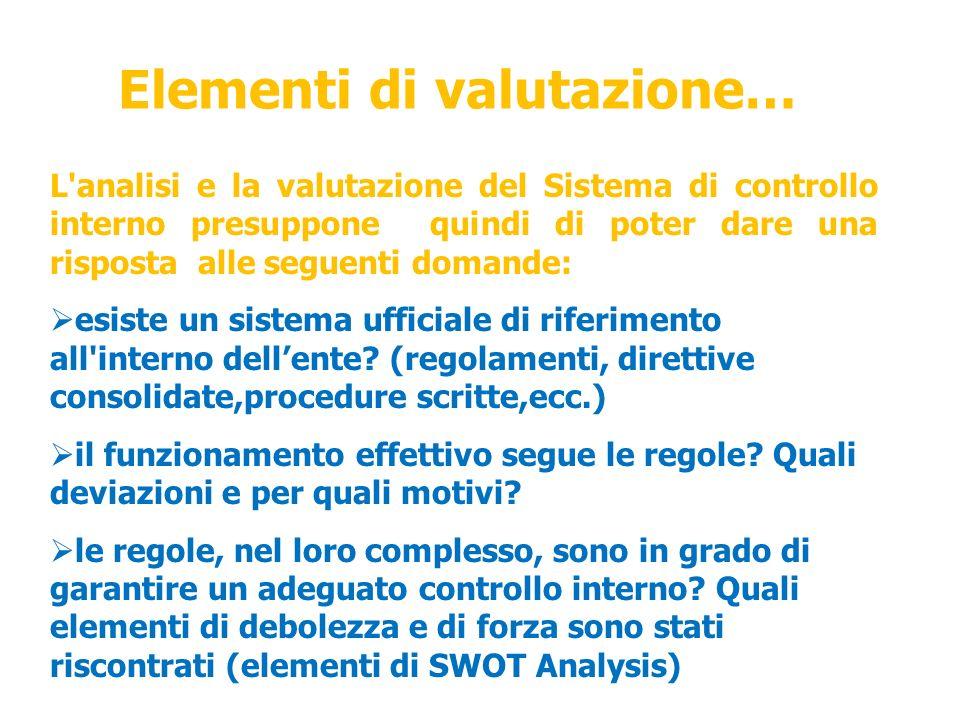 Elementi di valutazione…