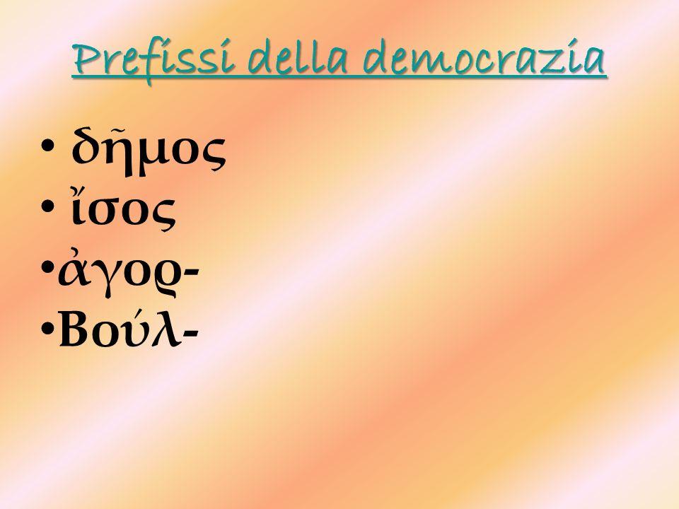 Prefissi della democrazia