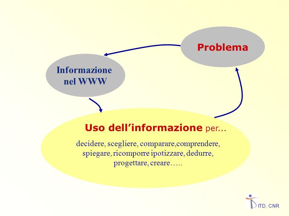 Uso dell'informazione per...